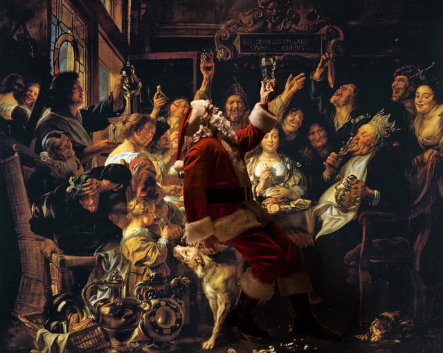 The Bean King - Jacob Jordaens 1659