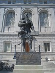 Statue of ancient Assyrian king Ashurbanipal, Civic Center, San Francisco