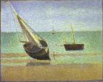 Boats. Bateux, maree basse, Grandcamp