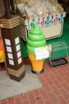 A Green Ice Cream Cone In Tokyo