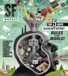 San Francisco Weekly Cover Illustration For A Feature About The Dark Side Of Sports