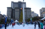 Ice Skating in Union Square