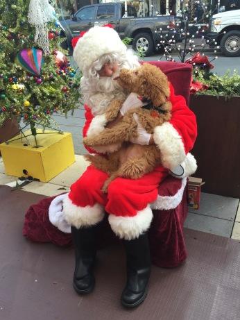 Santa and Friend, 24th Street, Noe Valley