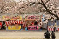 Food vendors in Minami-Temma Park, Osaka