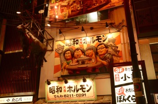 Restaurant signs in Dotonbori